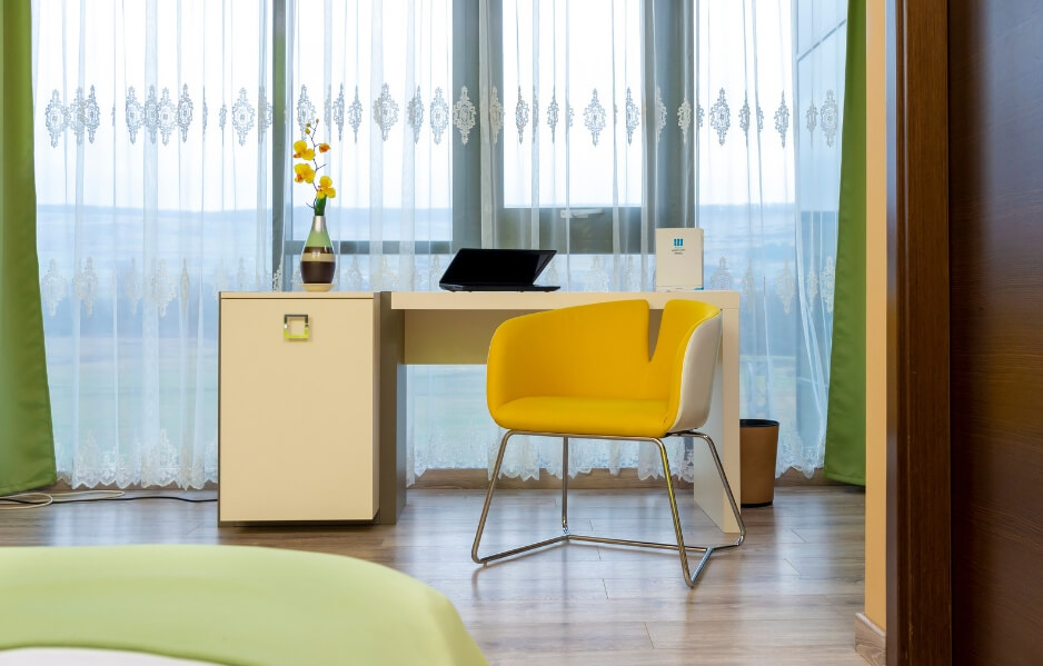 Camerele Executive: confortabile, colorate, moderne